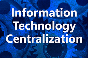 Technology Background with Information Technology Centralization text overlay
